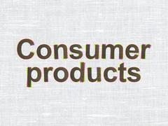 Stock Illustration of Finance concept: Consumer Products on fabric texture background