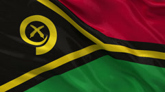 Flag of Vanuatu seamless loop Stock Footage