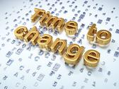 Stock Illustration of Timeline concept: Golden Time to Change on digital background