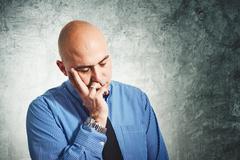 Businessman worry Stock Photos