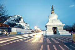 Potala Palace in Lhasa, urban landscape - stock photo