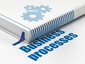 Stock Illustration of Finance concept: book Gears, Business Processes on white background