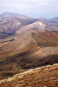 From the top in lanzarote spain africa and house Stock Photos