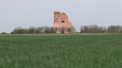 Stock Video Footage of eight hundred year old church ruin