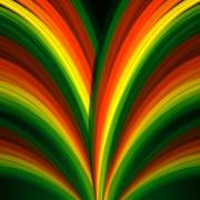 Multicolored rainbow lines fountain Stock Illustration
