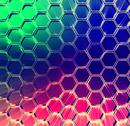 Stock Illustration of abstract multicolored shining hexagons background