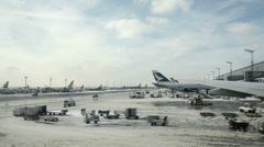 Airport Frankfurt/Main Germany - daily business Stock Footage