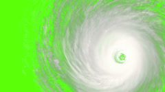 4k, a rotating hurricane with built-in chromakey so that it can be matted ont Stock Footage