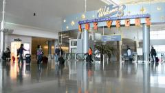 Las Vegas, McCarran international airport interior, USA. Stock Footage