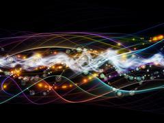 Diversity of Dynamic Network - stock illustration