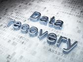 Stock Illustration of Data concept: Silver Data Recovery on digital background