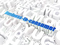 Stock Illustration of Business concept: Business-to-consumer on alphabet background