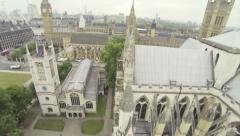 Camera moving around Westminster Abbey Stock Footage
