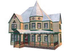 Victorian winter house Stock Illustration