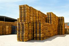 Stock Photo of logistic pallets
