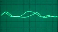 Stock Video Footage of Low frequency on an oscilloscope 04