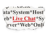 Stock Illustration of Web design concept: Live Chat on Paper background