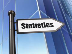 Stock Illustration of Business concept: sign Statistics on Building background