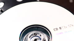 DVD or CD ROM Close up footage Stock Footage
