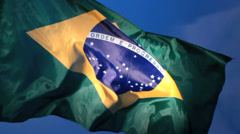 Real Brazil flag 2 Stock Footage