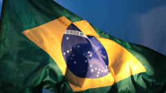 Real Brazil flag 4 Stock Footage