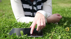 Stay connected outdoors Stock Footage