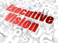 Stock Illustration of Business concept: Executive Vision on alphabet background