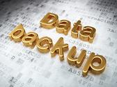 Stock Illustration of Information concept: Golden Data Backup on digital background