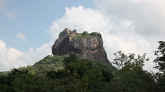 Time lapse of Lion rock in Shri Lanka Stock Footage