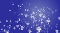 World of light bulbs, innovation and creativity Stock Footage