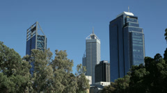 Perth skyline, australia, skyscrapers Stock Footage