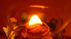 Kerosene Fuelled Lantern with flame Stock Footage