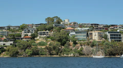 perth waterfront houses on swan river, australia - stock footage