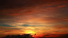 Red sunset. Stock Footage