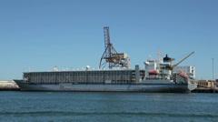 Live export ship, fremantle port, perth, australia Stock Footage