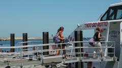 Rottnest express boat, fremantle, people boarding, perth, australia Stock Footage