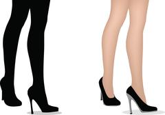 eps 10 vector illustration of female legs with high heels - stock illustration