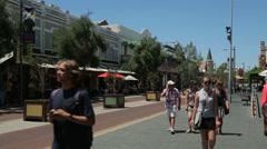 Fremantle, cappuccino strip, perth, australia Stock Footage