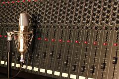 Recording studio console Stock Photos