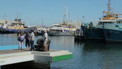 Fremantle fishing boat harbour, perth, australia, people Stock Footage