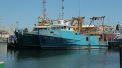 Fremantle fishing boat harbour, perth, australia Stock Footage