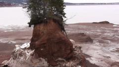 Soley Cove, Nova Scotia in Winter, Zoom Out. Stock Footage