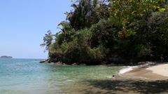 Tropical Beach Scape in Costa Rica, Manuel Antonio National Park Stock Footage