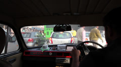Delhi taxi and road chaos 2 Stock Footage