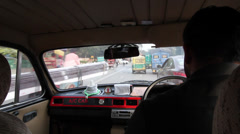 Delhi taxi and road chaos 1 Stock Footage