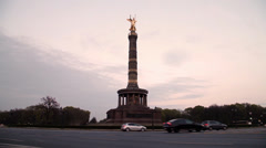 Siegessäule in berlin Stock Footage