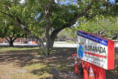 Floranada school sign Stock Photos