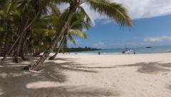 Saona palms and beach.MP4 Stock Footage