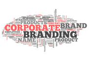 Stock Illustration of word cloud corporate branding