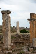 ruins of the ancient city of hierapolis - stock photo